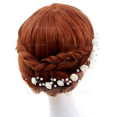 Fashion Crystal/Pearl Hairpins (Set of 2)