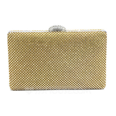 Elegant/Gorgeous/Unique/Bright/Pillow bag Crystal/ Rhinestone/Tulle/PU Clutches/Evening Bags
