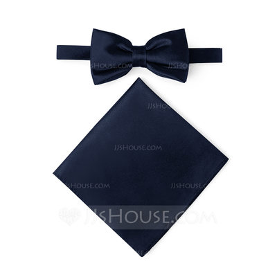 Casa de JJ Charmeuse Bow Tie & Pocket Square Set