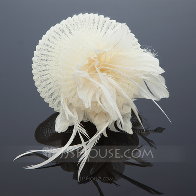 Gorgeous Net Yarn/Feather Fascinators