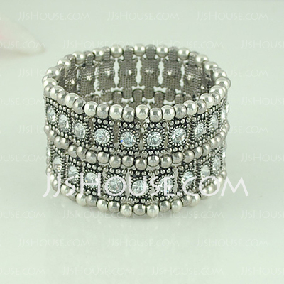 Fashion Alloy With Cubic Zirconia Ladies' Bracelets