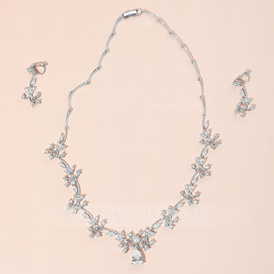 Elegant Charming Zircon Jewelry Sets For Bride For Bridesmaid For Mother For Friends