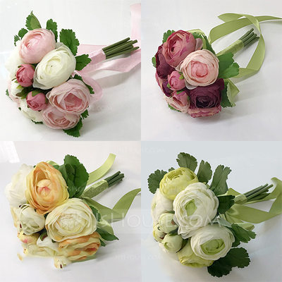 Vivifying Round Bridesmaid Bouquets -