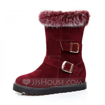Women's Leatherette Flat Heel Flats Closed Toe Boots Ankle Boots Snow Boots shoes