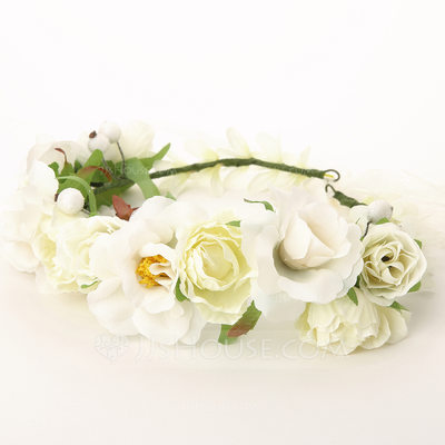 Lovely Cotton/Rattan Straw/Ribbon Flowers & Feathers