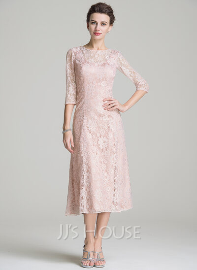 Lace Tea Length Cocktail Dresses