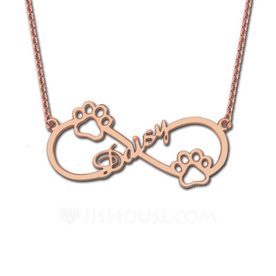 Personalized Ladies' Eternal Love Gold Plated/Silver Plated/Platinum Plated Name Necklaces For Bridesmaid/For Mother