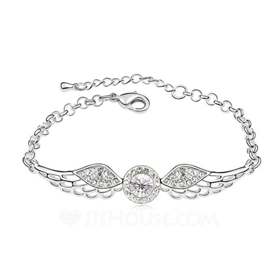 Romantic Alloy/Platinum Plated With Crystal Ladies' Bracelets