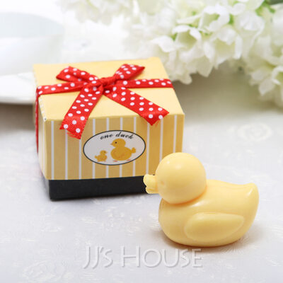 Cute Baby Duck Soaps With Ribbons