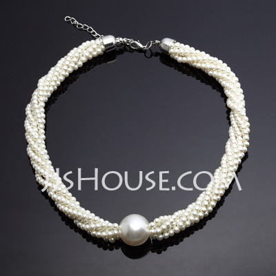 Classic Alloy With Pearl Ladies' Necklaces