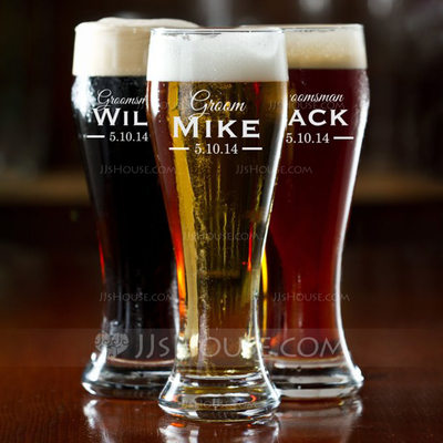 Groom Gifts - Personalized Classic Glass Beer Mug