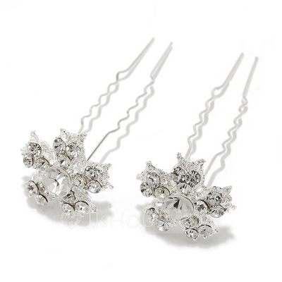Fancy Alloy Hairpins (Set of 2)
