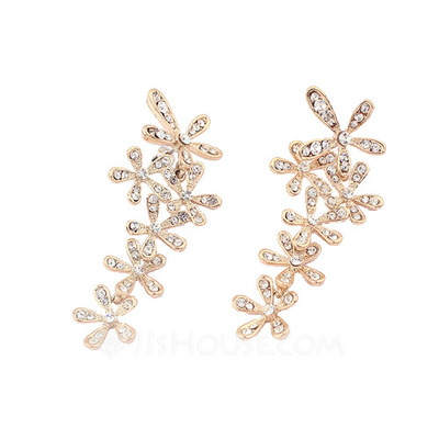 Charming Alloy With Rhinestone Ladies' Earrings