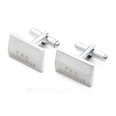 Personalized Zinc Alloy Cufflinks (Set of 2)