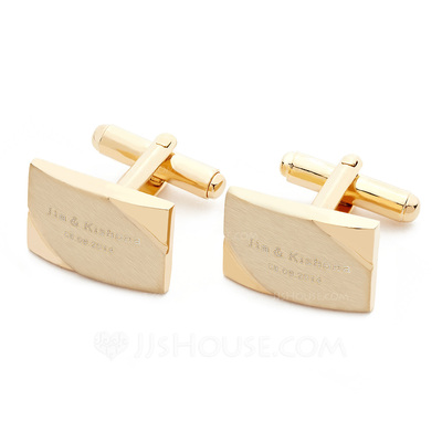 Personalized Simple Hard plastic Cufflinks (Set of 2)