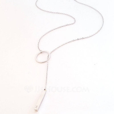 Personalized Ladies' Romantic 925 Sterling Silver Engraved/Initial Necklaces For Bridesmaid/For Friends