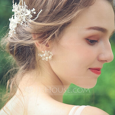 Ladies' Nice Alloy Rhinestone/Imitation Pearls Earrings For Bride/For Bridesmaid/For Mother/For Friends/For Her