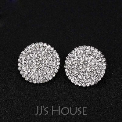 Ladies' Sparking Alloy/Rhinestones Earrings