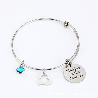 Personalized Unisex Unique Stainless Steel Engraved Bracelets Bracelets For Bridesmaid/For Friends/For Couple