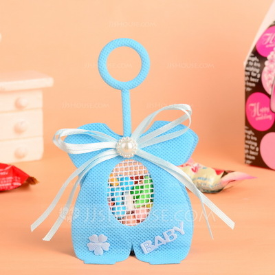 """Baby"" Handbag shaped Favor Bags With Pearl/Bow (Set of 12)"