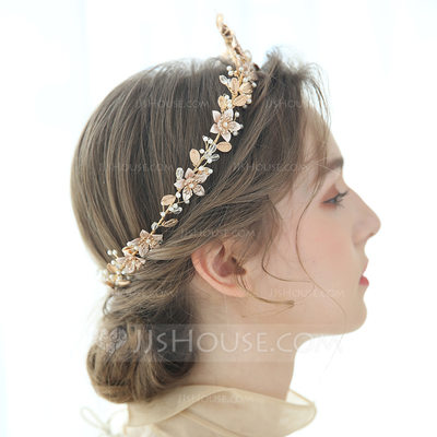 Ladies Glamourous Alloy/Imitation Pearls Tiaras Venetian Pearl (Sold in single piece)