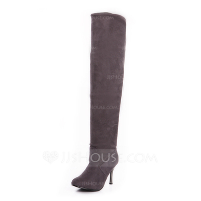 Suede Stiletto Heel Over The Knee Boots shoes