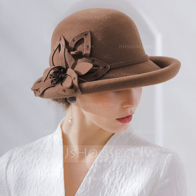 Ladies' Fashion/Classic/Pretty/Romantic Wool Floppy Hat