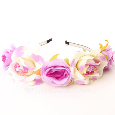 Lovely Fabric Flower Girl's Headwear/Flowers & Feathers/Headbands