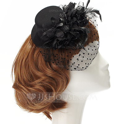 Fashion Artificial Silk/Net Yarn Fascinators