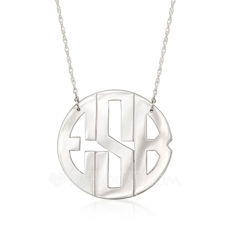 2419f645d Personalized Silver Gold Rose Gold Monogram Name Necklace Monogram Necklace  For Women For Men. Loading zoom