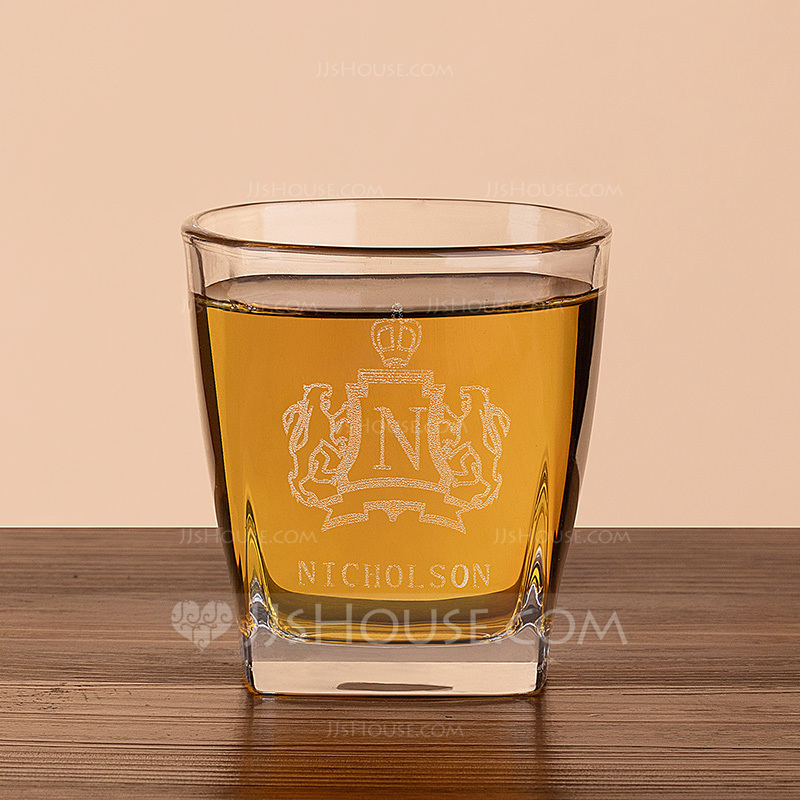 Groom Gifts - Personalized Vintage Glass Whisky Glass