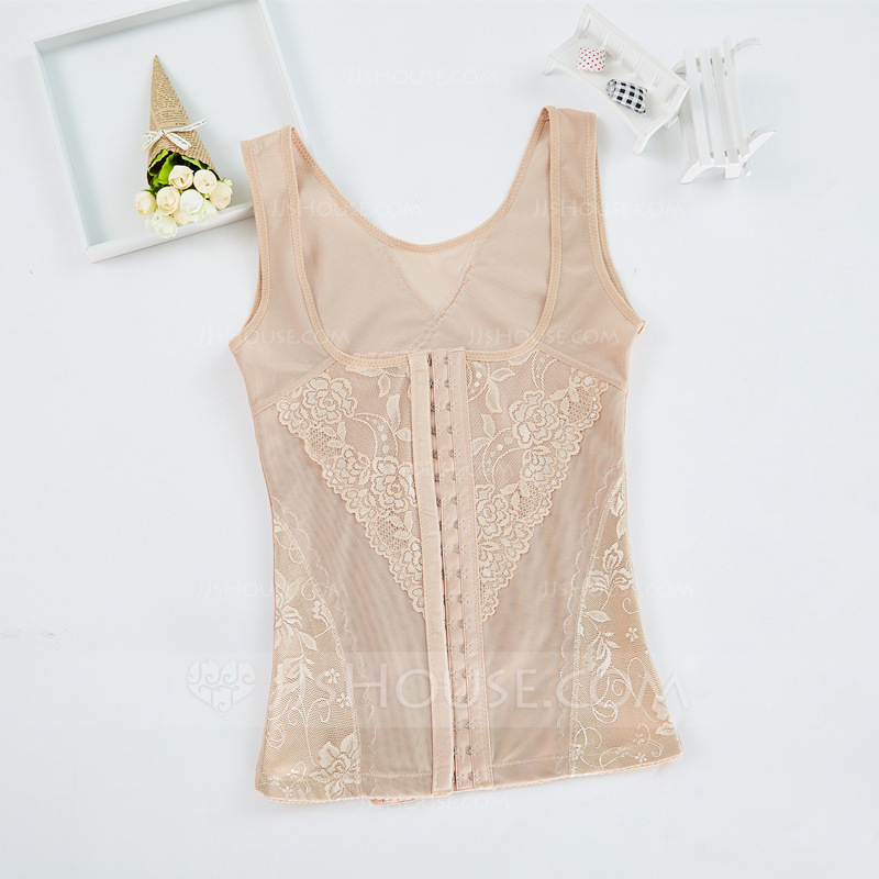 Women Feminine/Sexy Polyester/Chinlon Breathability High Waist Tanks And Camis/Waist Cinchers With Lace Shapewear