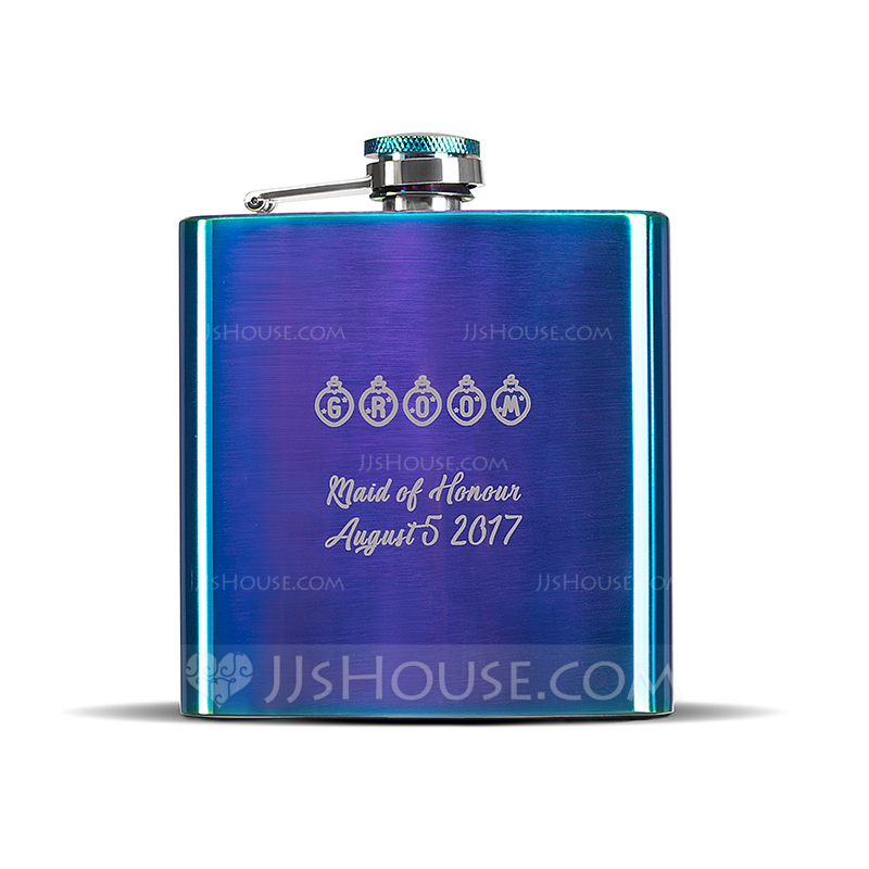 Groomsmen Gifts - Personalized Stainless Steel Flask