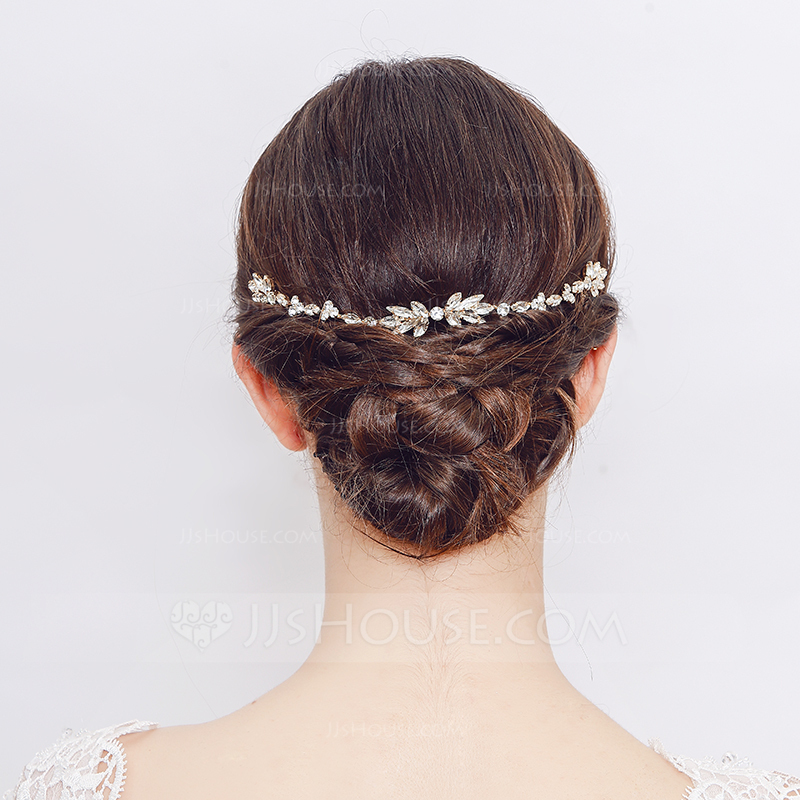 Ladies Classic Rhinestone/Alloy Combs & Barrettes With Rhinestone