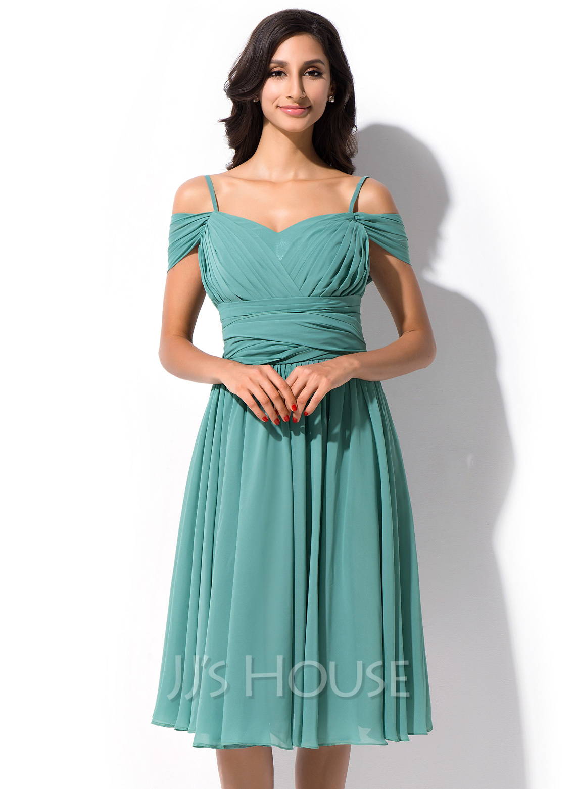 Off the Shoulder Chiffon Dresses
