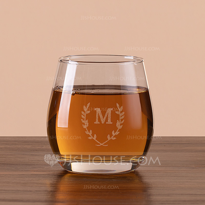 Groom Gifts - Personalized Modern Glass Whisky Glass