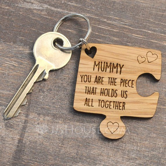 Personalized Simple Wooden Keychains (Set of 10)