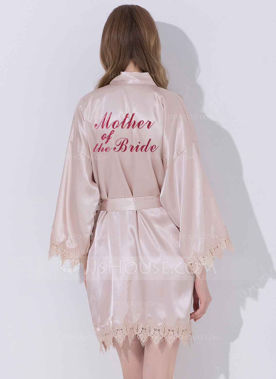 Lace Mom Lace Robes Glitter Print Robes