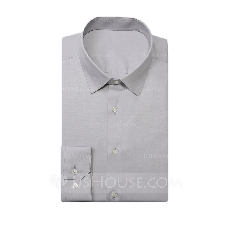 Modern Solid Dress Shirts