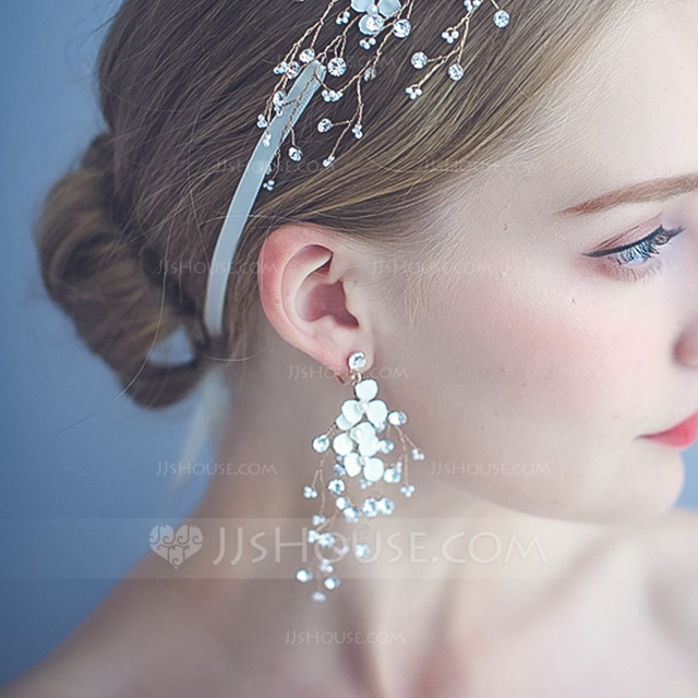 Ladies' Elegant Alloy Rhinestone/Beads/Imitation Pearls Earrings For Bride/For Bridesmaid/For Mother/For Friends/For Her
