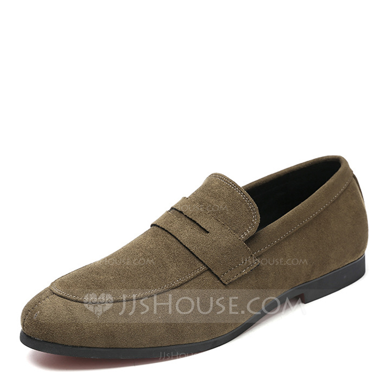 Men's Suede Penny Loafer Casual Men's Loafers