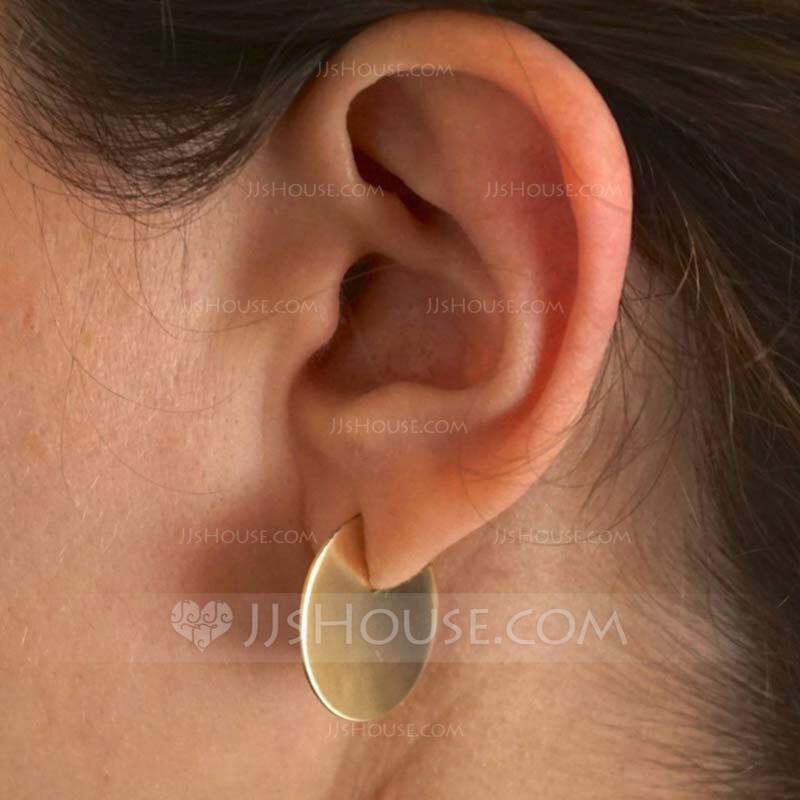 Ladies' Simple Alloy Earrings For Friends/For Her