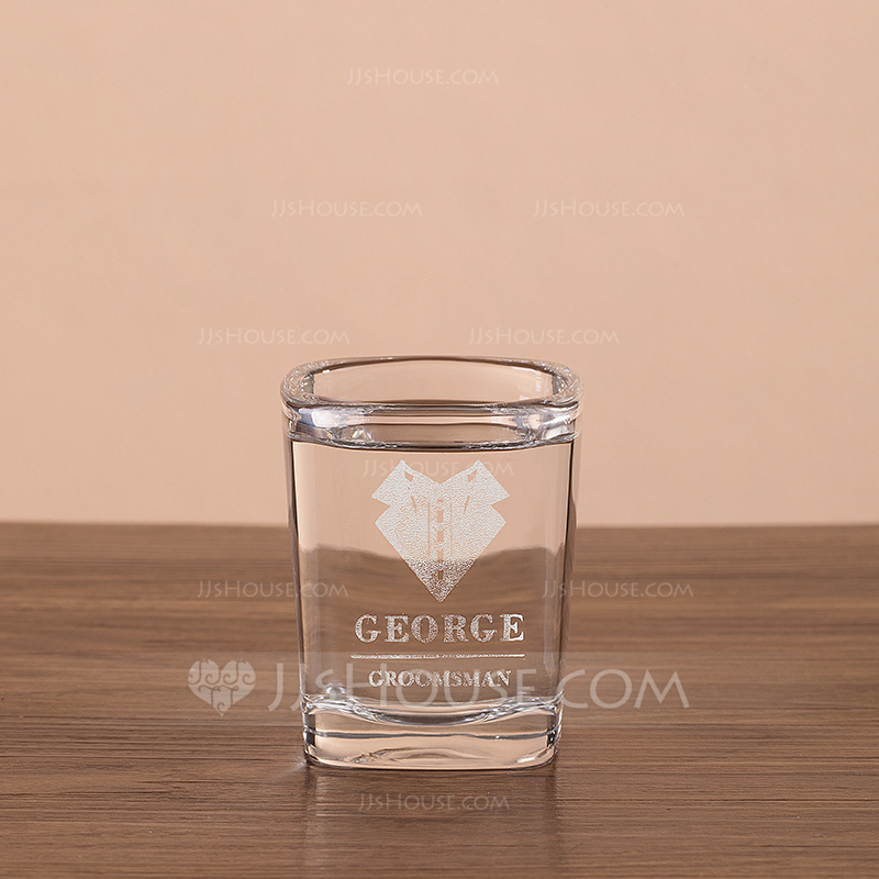 Groomsmen Gifts - Personalized Modern Glass Whisky Glass