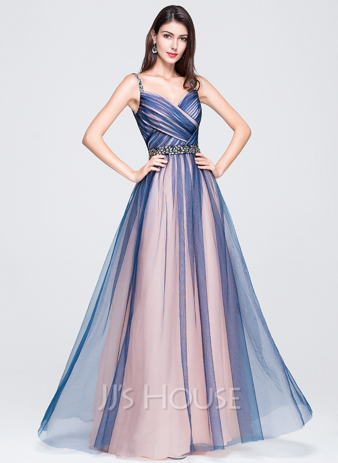 Sweetheart Floor-Length Tulle Prom Dresses