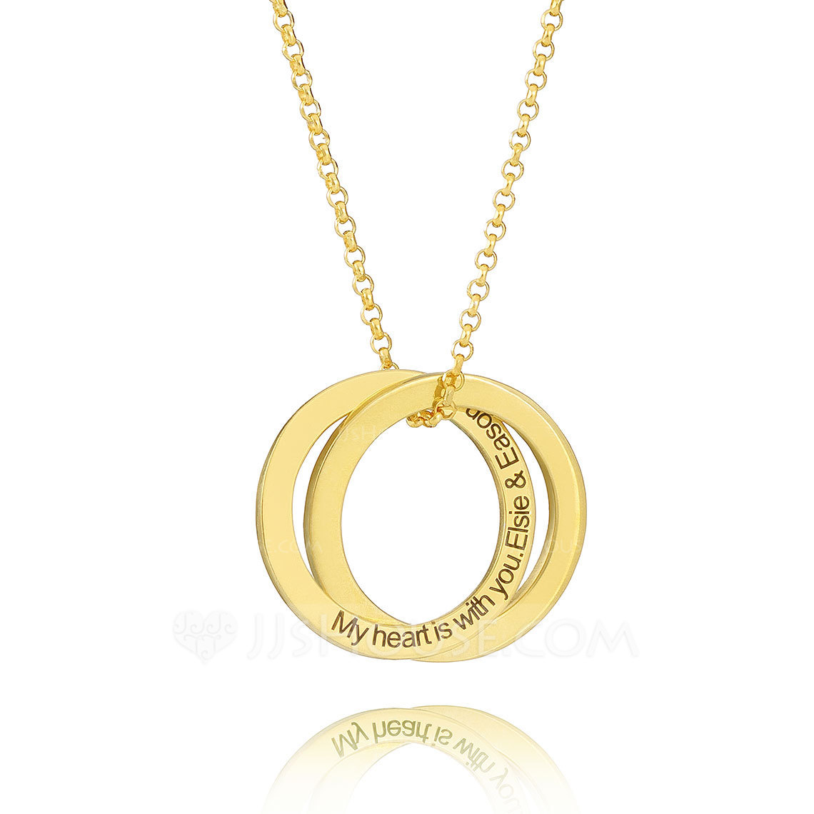 Custom 18k Gold Plated Silver Cross Circle Engraved Necklace Circle Necklace - Birthday Gifts Mother's Day Gifts