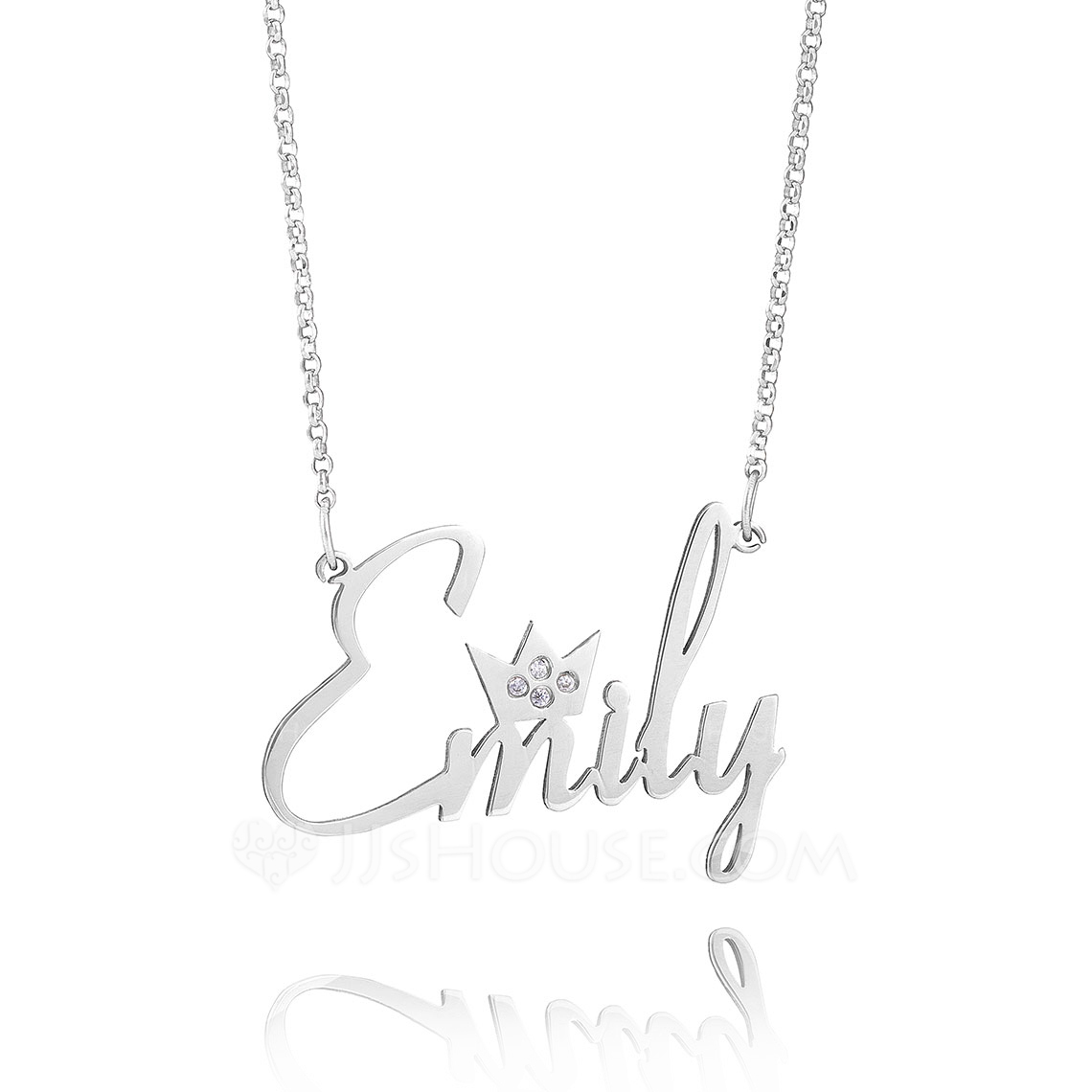 Custom Sterling Silver Name Necklace Nameplate - Birthday Gifts Mother's Day Gifts
