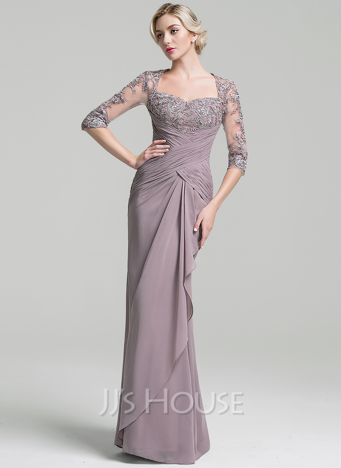 beb7950ca298a Trumpet/Mermaid Sweetheart Floor-Length Chiffon Mother of the Bride Dress  With Ruffle Cascading. Loading zoom