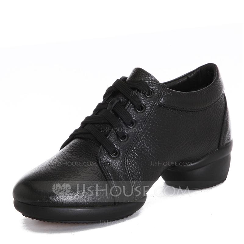 Frauen Echtleder Tanzschuhe Moderner Style Jazz Sneakers Tanzschuhe