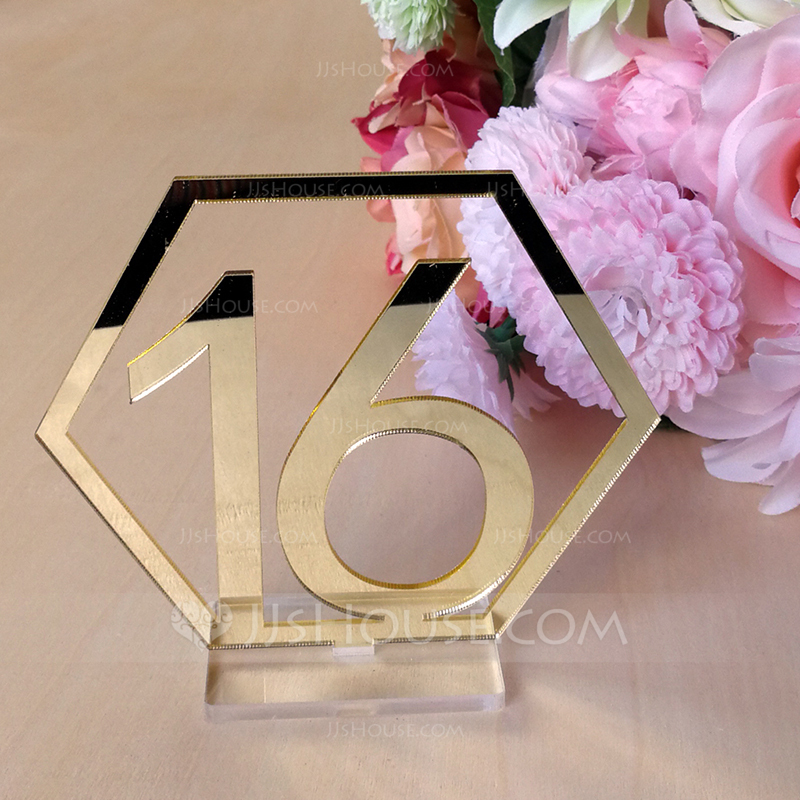 Personalized Classic Acrylic Table Number Cards (Set of 20)