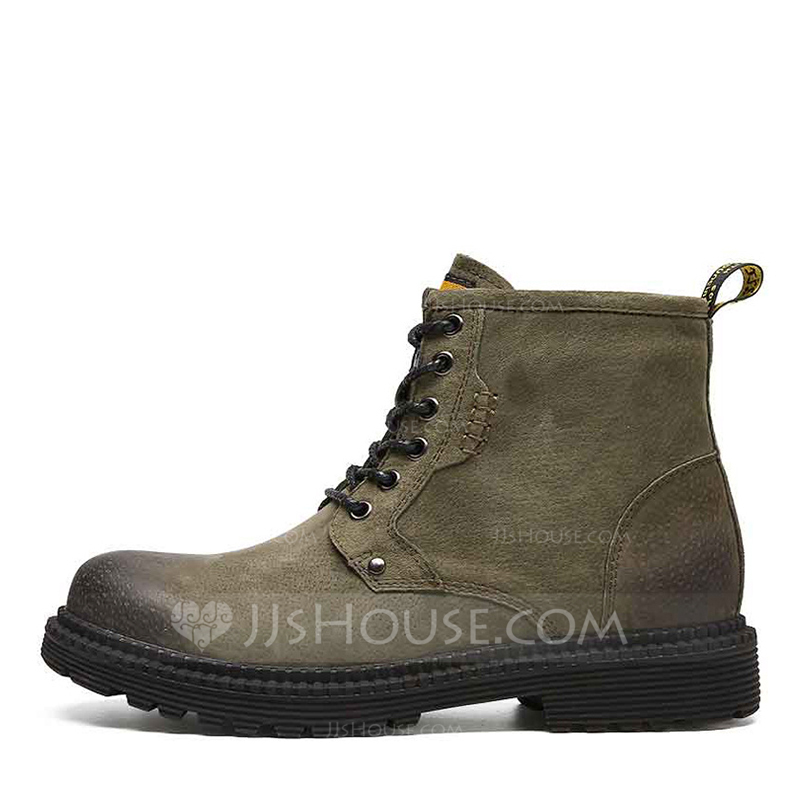 Men's Real Leather Chukka Casual Work Men's Boots